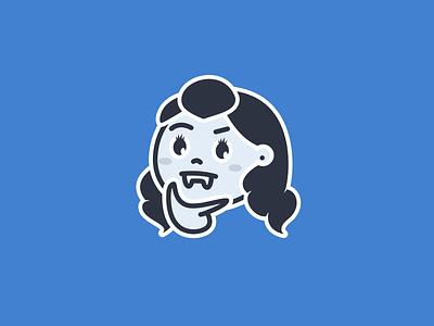 Vampire Avatar sketch illustration line easy transylvania face vampire emoji emoji blue avatar vampire