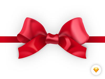 Realistic Ribbon fancy source free sketch red box gift christmas xmas vector ribbon realistic