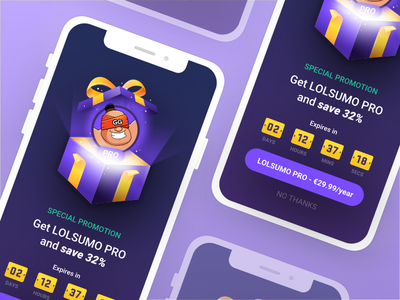Lolsumo Special Offer logo ios ux ui design character clean overlay app 3d icon illustration