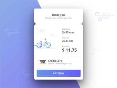 Biking Email Receipt bike vector ios ux ui design clean overlay app receipt icon illustration