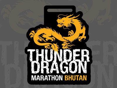 Thunder Dragon Medal id brand logo
