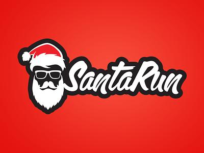 Santa Run Logo logo