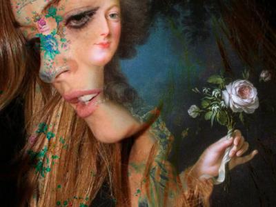 ladEE photo manipulation found photograph collage photocollage photo collage