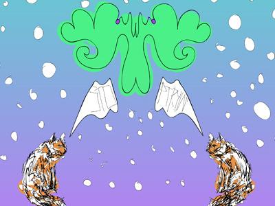 Stop Tryin' cat symmetry design for fun illustrator vector art