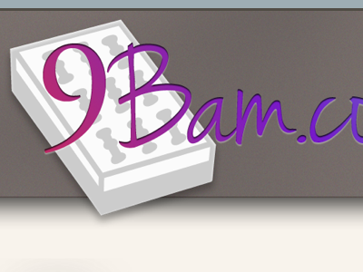 Email Newsletter - Header header newsletter email drop shadows gradient pink purple greys grays 9bam.com