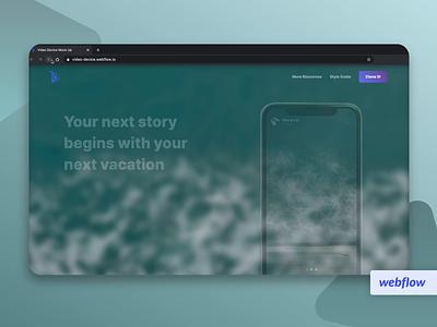 Video Mobile Mockup on Webflow travel webflow website video design web ui