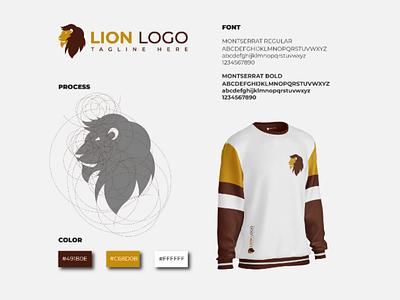 Lion logo branding graphic design visual identity logo