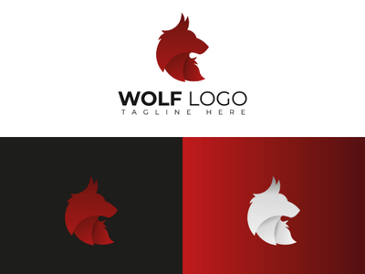 Wolf logo branding graphic design creative idea brand golden ratio minimalist logo design