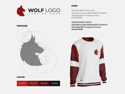 Wolf visual identity branding graphic design creative idea brand golden ratio minimalist logo design