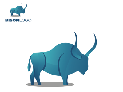 Bison logo graphicdesign creativity bisonlogo illustrator brand awesomelogo logodesign logo