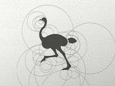 Ostrich logo design ostrich brand creativeidea illustrator logodesign