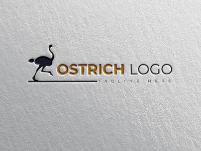Ostrich logo creativedesign awesomelogo creativeidea brand ostrich illustrator logodesign