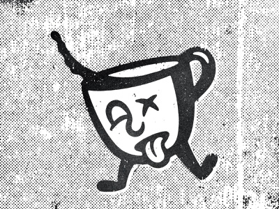 Need Coffee comic halftone black texture design distressed vintage illustration retro