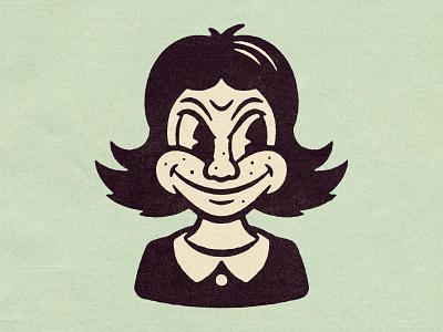Nasty Woman 30s 20s comic texture design distressed vintage illustration retro