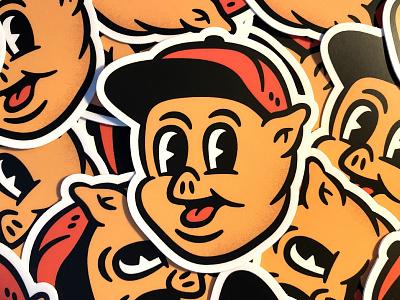 New Stickers! 1930s 30s cartoon characterdesign character pig stickermule stickers sticker comic design distressed vintage illustration retro