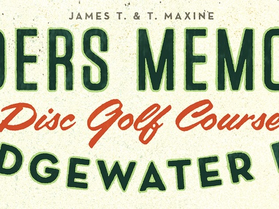 Disc Golf Type Details golf golden books halftone map distressed retro illustration