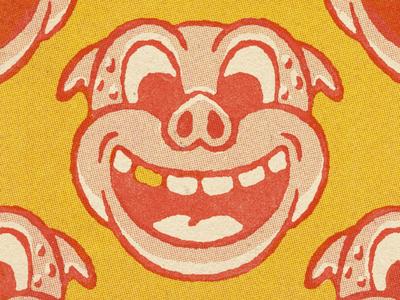 Illustration Practice vintage comic book comic halftone red 1930s distressed retro illustration