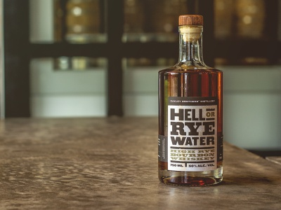 High Rye Bourbon is out! distillery label whiskey bourbon retro typography design distressed vintage labeldesign