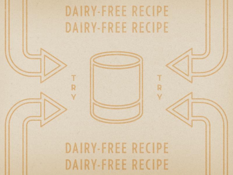 Dairy-Free Recipes typography design texture illustration distressed vintage retro
