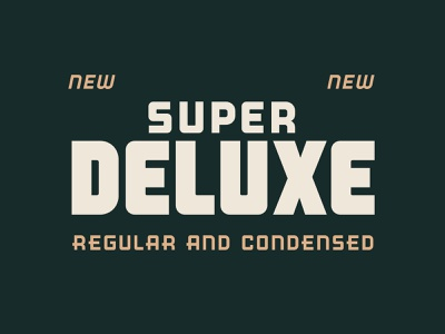 Super Deluxe Typeface 40s editorial typeface fonts font typography design type vintage retro