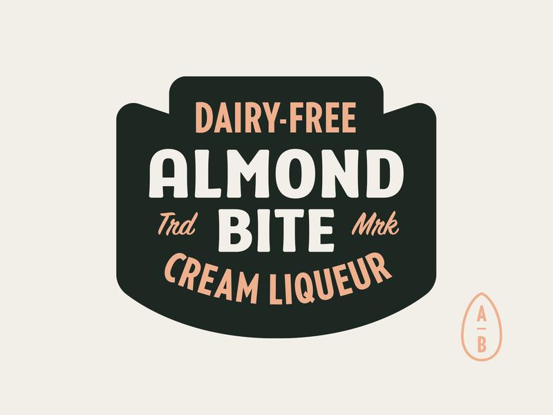 New Almond Bite Badge type design 40s 50s typography branding retro logo vector vintage type