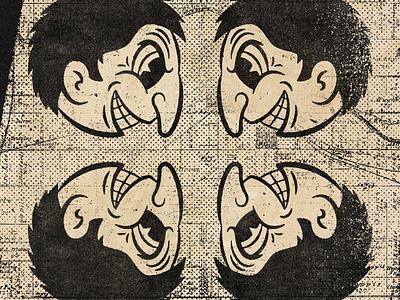 Face Off 40s comic halftone texture black design distressed vintage illustration retro