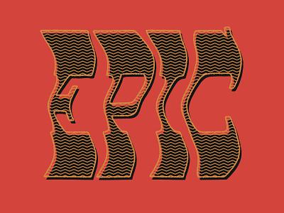EPIC 70s hand lettering typography distressed retro lettering texture design black type vintage custom type