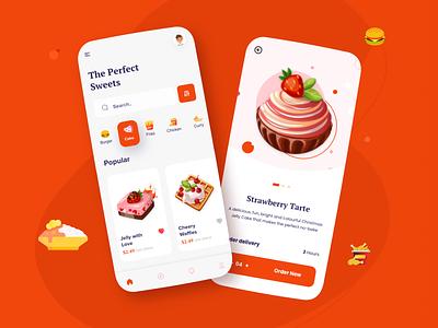 CakeHUT e-comerce 3d art food minimal cake shop cake