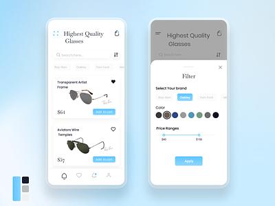 GlassHub glass ui design e-commerce