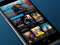 Cinema app [main screen]
