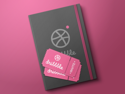 Giveaway Dribbble Invite welcome vector sketch notebook tickets draft dribbble giveaway invites design