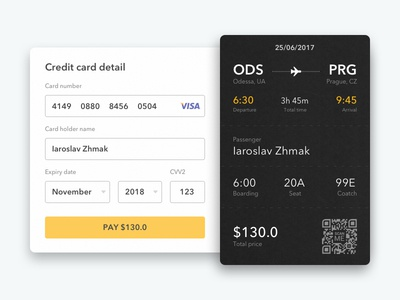 Air ticket payment widget [Checkout] app widget login ui ux credit card pay ticket air service product