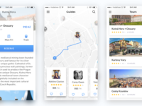 Traveling App cards tickets gradient light map social cz ios app travel ux ui