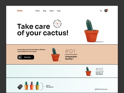 Plant Shop Landing Page onlineshop ecommercewebsite webdesigner webdesign figmadesign web plantshop shopify ecommerce plant flat flatdesign typography vector ux branding agency 2d ui design