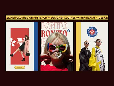 BONITO - Branding Concept shopify fashion brandidentity ui vector flat graphic design design web agency illustration logo typography branding