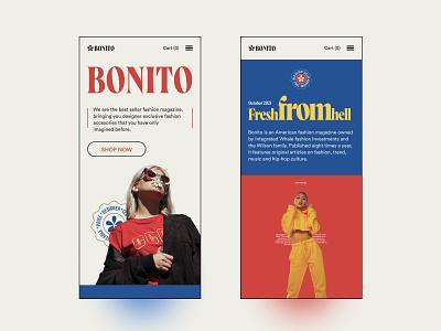 Bonito Fashion - Responsive Web webdesign customgraphics uitrend ecommerce flat shopify fashion flatdesign responsivedesign responsive typography branding ux web ui design