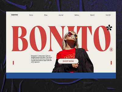Bonito Fashion Landing Page webdesign fashion ecommerce shopify graphic design flatdesign ui animation motion graphics animation landing page website ux ui design web