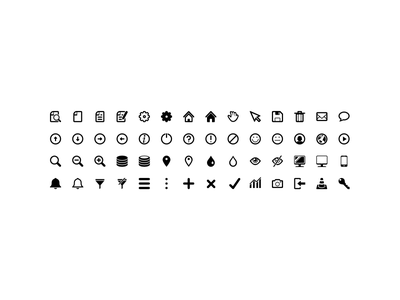 Glyph Icons small icons icons glyph