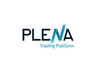 Plena Logo stocks trading logo