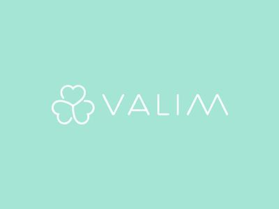 Valim Logo lucky clover flower health wellness aesthetic clinic logo