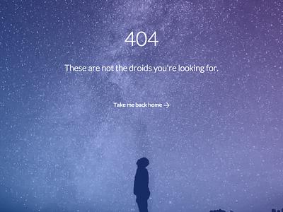 404 page stars sky website 404