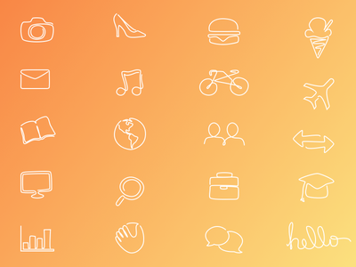 Single Line Icons single-line lineicons outline icons