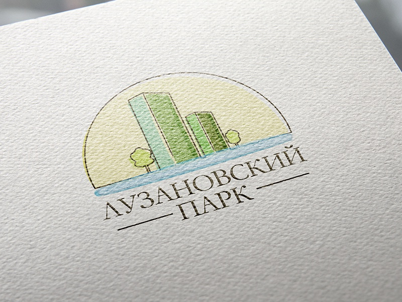 "Logo for apartment complex ""Luzanovskiy Park"" branding flat house apart apartment aparts building real estate logo"