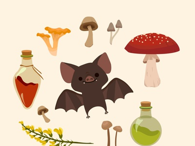 Autumn gifts illustration typography flatdesign design vectorart vector bat halloween design halloween