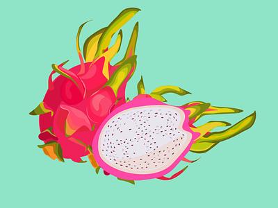 Dragonfruit buisness design illustrator illustration vectorart vector flatdesign
