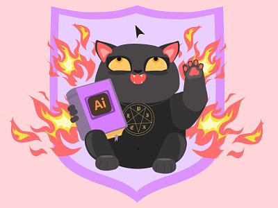 Pray to Ai flat ux web halloween design vector illustrator illustration vectorart flatdesign