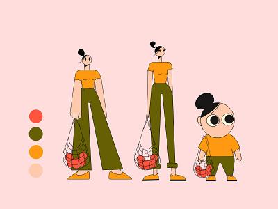 Girls girls girls minimalism character design characterdesign design girl character illustrator illustration vectorart vector flatdesign