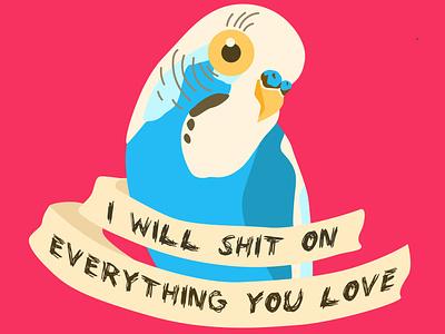 Budgie parrot characterdesign web ux buisness design illustrator illustration vectorart vector flatdesign