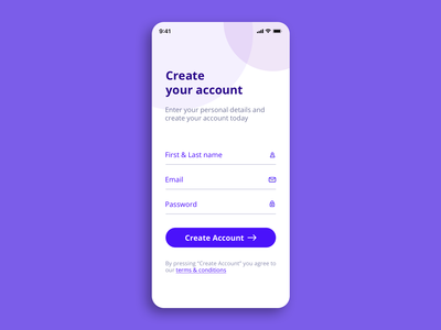 Sign up form Daily UI 001