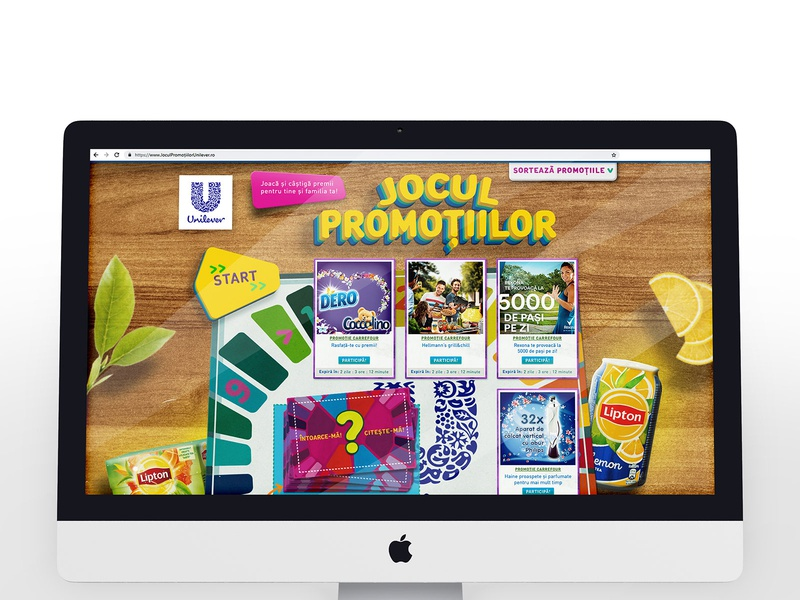 Unilever - Promotion Page romania fmcg unilever